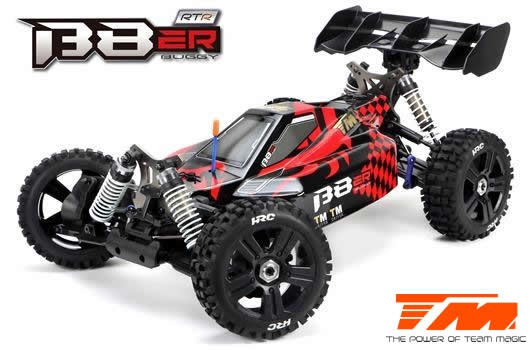1/8 Elektrisch - 4WD Buggy - RTR - 2500kv Brushless Motor - 4S - Wasserdicht - Team Magic B8ER Rot/Schwarz