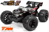 Auto - 1/10 Racing Monster Elektrisch - 4WD - RTR - Brushless - Wasserdicht - Team Magic E5 HX - Schwarz/Rot